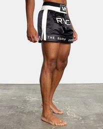 "6 RVCA Muay Thai Gym Shorts 15"" Black V2031RMT RVCA"