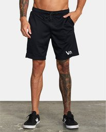 "1 VA Mesh Gym Shorts 20"" Black V2033RME RVCA"