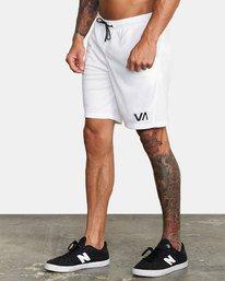 """3 VA Mesh Gym Shorts 20"""" White V2033RME RVCA"""
