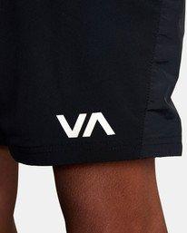 """8 YOGGER FLEX WORKOUT SHORTS 18"""" Black V2041RYA RVCA"""