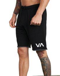 "7 VA Sport IV Gym Shorts 20"" Black V2063RSS RVCA"