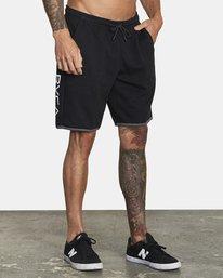 "6 VA Sport IV Gym Shorts 20"" Black V2063RSS RVCA"