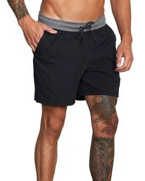 """7 Utility Gym Shorts 20"""" Black V2073RUS RVCA"""