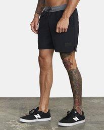 """3 Utility Gym Shorts 20"""" Black V2073RUS RVCA"""