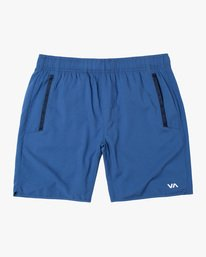 "0 YOGGER IV Recycled 17"" WORKOUT SHORT Blue V2091YGR RVCA"