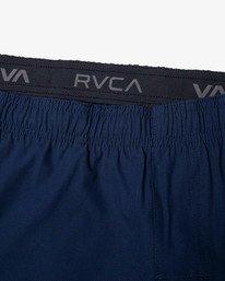 """19 YOGGER 17"""" STRETCH WORKOUT SHORT Blue V2103RYS RVCA"""