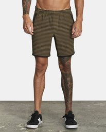 "0 YOGGER 17"" STRETCH WORKOUT SHORT Green V2103RYS RVCA"