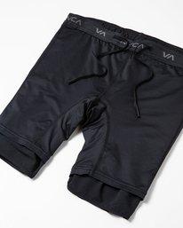 "3 Yogger Lined Athletic Shorts 17"" Black V2113RYL RVCA"