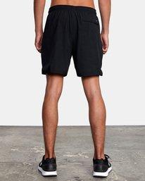 "6 Yogger Lined Athletic Shorts 17"" Black V2113RYL RVCA"