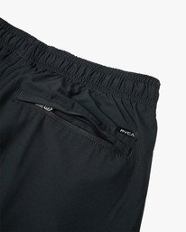 "7 Yogger Lined Athletic Shorts 17"" Black V2113RYL RVCA"