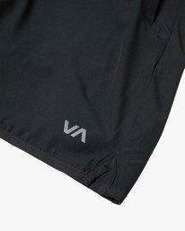 "14 Yogger Lined Athletic Shorts 17"" Black V2113RYL RVCA"