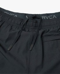 "17 Yogger Lined Athletic Shorts 17"" Black V2113RYL RVCA"