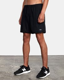 "8 Yogger Lined Athletic Shorts 17"" Black V2113RYL RVCA"
