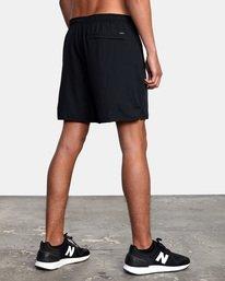 "9 Yogger Lined Athletic Shorts 17"" Black V2113RYL RVCA"