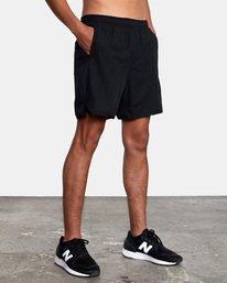 "10 Yogger Lined Athletic Shorts 17"" Black V2113RYL RVCA"