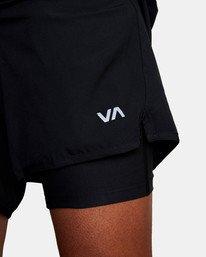 "19 Yogger Lined Athletic Shorts 17"" Black V2113RYL RVCA"