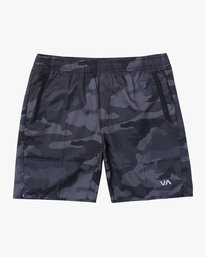 "0 YOGGER IV 17"" WORKOUT SHORT Brown V2133RYG RVCA"