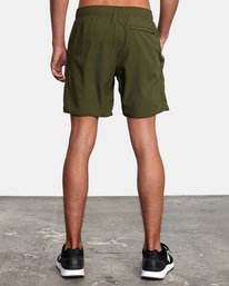 "3 Yogger IV Athletic Shorts 17"" Green V2133RYG RVCA"