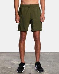 "2 Yogger IV Athletic Shorts 17"" Green V2133RYG RVCA"
