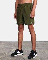 "4 Yogger IV Athletic Shorts 17"" Green V2133RYG RVCA"