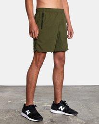 "5 Yogger IV Athletic Shorts 17"" Green V2133RYG RVCA"