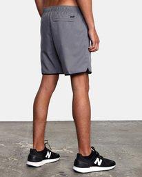 """6 Yogger IV Athletic Shorts 17"""" Grey V2133RYG RVCA"""