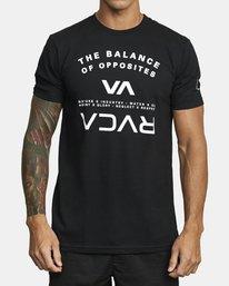 0 BALANCE ARC SHORT SLEEVE TEE Black V4013RBA RVCA
