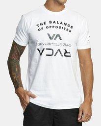 0 BALANCE ARC SHORT SLEEVE T-SHIRT White V4013RBA RVCA