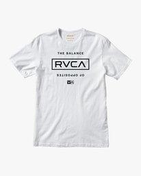 0 Stacked T-Shirt White V402SRST RVCA