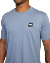 6 RVCA 2X Workout Shirt Blue V4041RRX RVCA