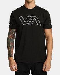 0 VA OFFSET T-SHIRT Black V4041RVO RVCA