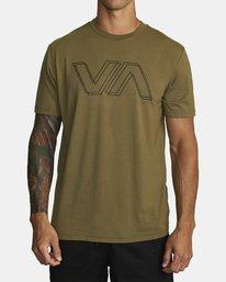 0 VA OFFSET T-SHIRT Green V4041RVO RVCA