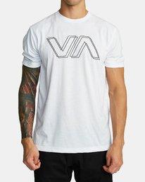 0 VA OFFSET T-SHIRT White V4041RVO RVCA