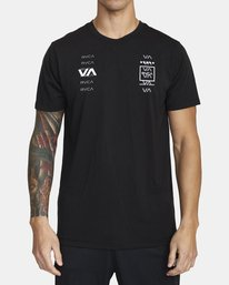 0 DOUBLE DOWN SHORT SLEEVE TEE Black V4043RDO RVCA