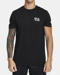 0 TIGER KRAK SHORT SLEEVE TEE Black V4043RTI RVCA