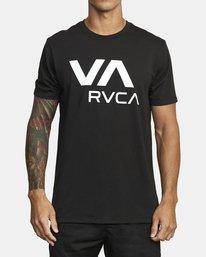0 VA RVCA SHORT SLEEVE T-SHIRT Black V4043RVR RVCA