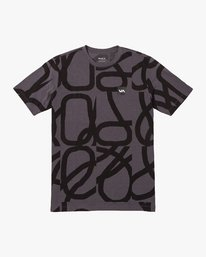 0 Francesco Fid All Over T-Shirt Grey V404VRFD RVCA