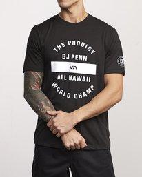 0 BJ Penn Arc Drirelease T-Shirt Black V404WRBA RVCA