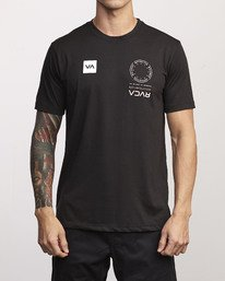0 VA Mark Drirelease T-Shirt Black V404WRVM RVCA