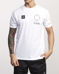 0 VA Mark Drirelease T-Shirt White V404WRVM RVCA