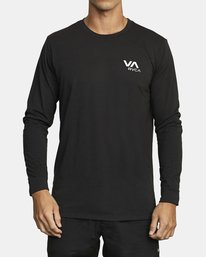 0 VA RVCA LONG SLEEVE TEE Black V4533RVR RVCA