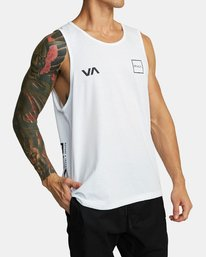 0 RVCA LANE TANK TOP White V4821RRL RVCA