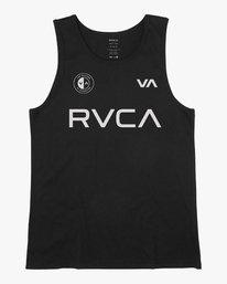 0 RVCA Club Tank Top Black V482VRRC RVCA
