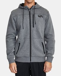 0 SPORT TECH HOODIE Grey V6013RSH RVCA
