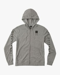 0 VA Guard Fleece Hoodie Grey V605QRGH RVCA
