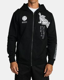 0 BULLET PROOF FLEECE Black V6172RBU RVCA