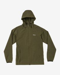 0 VA Windbreaker Jacket Green V705TRWI RVCA