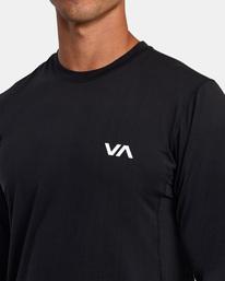 4 SPORT VENT LONG SLEEVE TEE Black V9011RSV RVCA