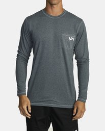 0 SPORT VENT LONG SLEEVE TOP Brown V9011RSV RVCA