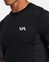 3 SPORT VENT SHORT SLEEVE TEE Black V9021RSV RVCA